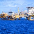 Stock Photo: Oil Rig Offshore