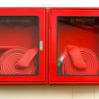 Stock Photo: Emergency Red Boxes