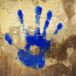 Blue Hand Stamp — Stock Photo #32451695