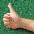 Stock Photo: Man's Thumb Up