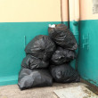 Garbage Bag Pile — Stock Photo