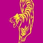 Постер, плакат: Tiger Line Art