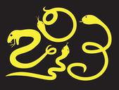 Serpiente amarilla 2013 — Vector de stock