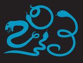 Serpiente azul 2013 — Vector de stock