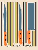 Knife Code Set — Stock Vector