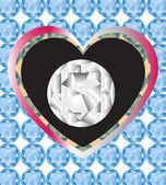 Diamond Gift — Stock Vector