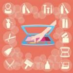Cosmetics Concept — Stock Vector #32765177