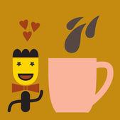 Coffee Background — Stock Vector