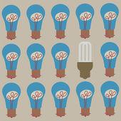 Save Energy Bulb — Stock Vector
