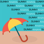 Paraply på solen — Stockvektor