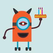 Robota brithday ciasto — Wektor stockowy