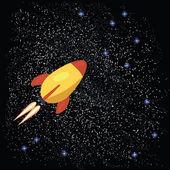 Misil en constelación — Vector de stock