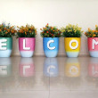 Colorful of the Welcome — Stock Photo