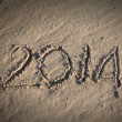 2014 letters on sand — Stock Photo #42061925
