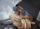 Technology Skull Concept — Stock Photo