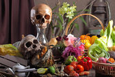 Vegetables Green Skull — Foto Stock