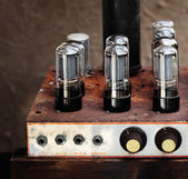 Valve Vintage Amplifier — Stock Photo