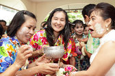 Vattenfestival i thailand — Stockfoto