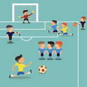 Piłkarz uruchomić — Wektor stockowy