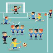 Soccer Player Run — Stock Vector