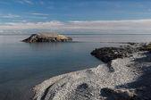 Pebble Arctic coast — Stock Photo