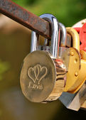 """Love"" Padlock — Stock Photo"