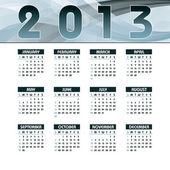 2013 Calendar. — Stock Vector