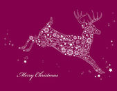 Christmas Background. Deer. — Stock Vector