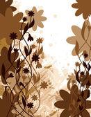花の背景。ベクトル形式の eps10. — ストックベクタ