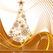 Christmas Tree Background. - Stock Vector