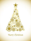 Noel ağacı arka plan. — Stok Vektör