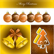 Christmas Background. Vector Illustration. Eps10. — Vetorial Stock