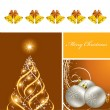 Christmas Background. Vector Illustration. Eps10. — Stock Vector #12305851