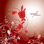Floral achtergrond. vectorillustratie. — Stockvector