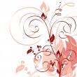 Floral Background. Vector Illustration. Eps10. - Imagen vectorial