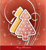 Christmas Background. Vector Illustration. Eps10. — Vector de stock