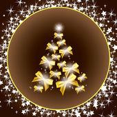 クリスマス ツリー。ベクトル イラスト。eps10. — ストックベクタ