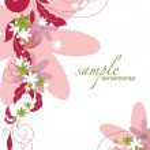 floral abstrato. ilustração vetorial. eps10 — Vetorial Stock  #13945803