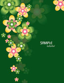 Abstract Floral Background. Vector Illustration. Eps10. — Stock Vector