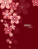 Abstrakt floral bakgrund. vektor illustration. eps10. — Stockvektor