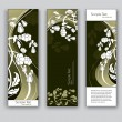 Abstract Banners With Flowers. Vector Backgrounds. Eps10 Format. — Stock Vector #22888134