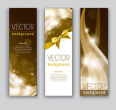 Vector Banners Abstract Backgrounds — Stock Vector