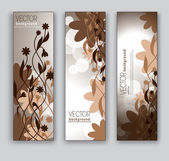 Floral Vector Banners. Abstract Backgrounds. — Stockvector
