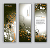 Floral Vector Banners. Abstract Backgrounds. — Stock Vector