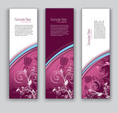 Floral Vector Banners. Abstract Backgrounds. — Vettoriale Stock