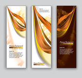 Abstract Banners. Vector Backgrounds. Eps10 Format. — Stock Vector