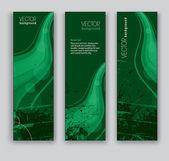 Bannières abstraites. arrière-plans de vecteur. eps10 format. — Vecteur