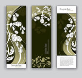 Abstract Banners With Flowers. Vector Backgrounds. Eps10 Format. — Stock Vector