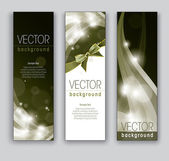 Vector Banners. Abstract Backgrounds. Eps10. — Stock Vector