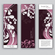 Vector Floral Banners. Abstract Backgrounds. Eps10. — Stock Vector